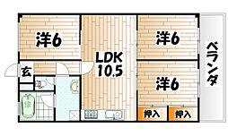 ハイツシーサイドI[4階]の間取り