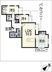 グレースコート白壁 301号室[3階]の間取り