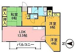 福岡県福岡市西区福重5丁目の賃貸マンションの間取り