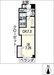 Arsa上飯田[4階]の間取り