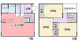 [一戸建] 兵庫県姫路市北新在家2丁目 の賃貸【/】の間取り