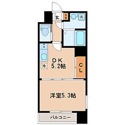 宮城県仙台市青葉区片平1丁目の賃貸マンションの間取り