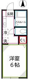 ハイムサンフラワー[1階]の間取り