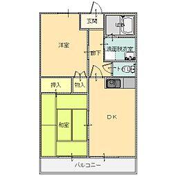 シープクレインマンション[3-C号室]の間取り