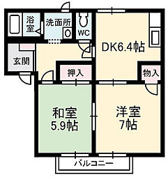 パークボナベンチャーハイツ A棟[1階]の間取り