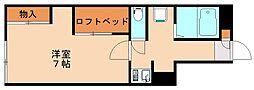 レオパレス新飯塚[1階]の間取り