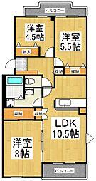 キャピタルマンション志木[3階]の間取り