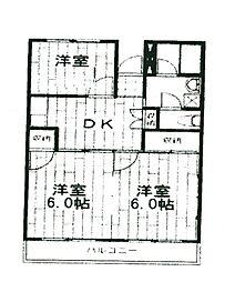 神奈川県座間市入谷4丁目の賃貸マンションの間取り