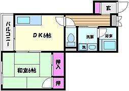 兵庫県神戸市東灘区住吉東町4丁目の賃貸マンションの間取り
