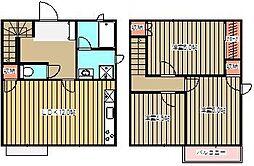 [タウンハウス] 東京都小金井市前原町1丁目 の賃貸【/】の間取り