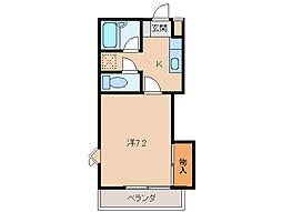 ハニカム4[2階]の間取り