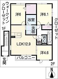 プリオーレ日進 B棟[2階]の間取り