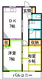 東京都小平市上水本町4丁目の賃貸マンションの間取り