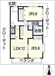 サンタウン弐番館[2階]の間取り