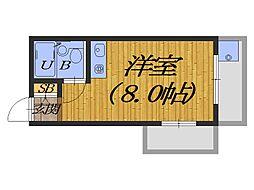 大阪府堺市堺区新在家町東2丁の賃貸マンションの間取り