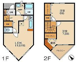 [テラスハウス] 東京都町田市広袴2丁目 の賃貸【/】の間取り
