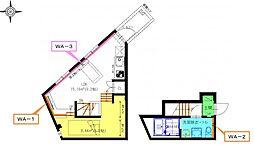 名鉄名古屋本線 東枇杷島駅 徒歩3分の賃貸アパート 2階1SLDKの間取り