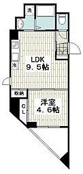 メゾン青空東戸塚 3階1LDKの間取り