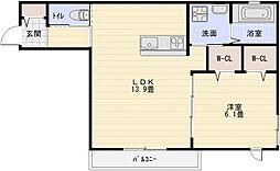 新築へーベルメゾン大県3丁目[2階]の間取り