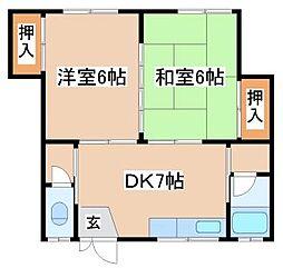 兵庫県神戸市須磨区妙法寺字上ノ池の賃貸アパートの間取り