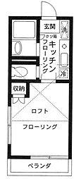 シャトルハイツシムラ[2階]の間取り