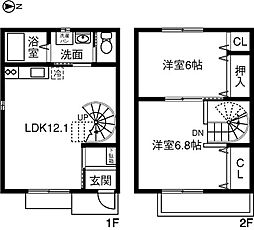 [テラスハウス] 愛知県岡崎市羽根町字鰻池 の賃貸【/】の間取り