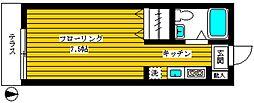 東京都中野区丸山1丁目の賃貸アパートの間取り