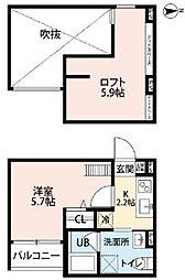 コヒマリーユ 田島[2階]の間取り