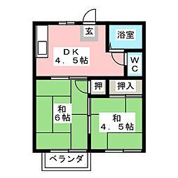 プレジール花の木[2階]の間取り