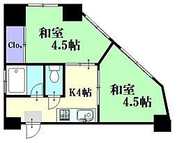 堺町Yビル[401号室]の間取り