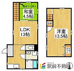 [一戸建] 福岡県八女市本町 の賃貸【/】の間取り