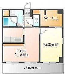 コリーヌ江坂[8階]の間取り