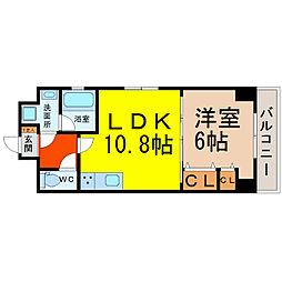 LUNA KASATORI(ルナ笠取)[702号室]の間取り