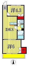 メゾンY・K[4階]の間取り