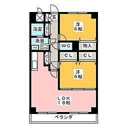 岩井通COSMOS[7階]の間取り
