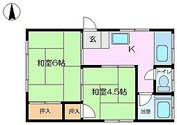弘明寺レジデンス[201号室]の間取り