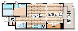 兵庫県神戸市長田区梅ケ香町1丁目の賃貸アパートの間取り
