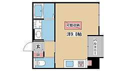 兵庫県神戸市中央区坂口通3丁目の賃貸マンションの間取り