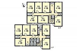 久我山IIシェアハウス(1016) 1階ワンルームの間取り