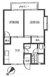 シャトレー茅ヶ崎I[2階]の間取り