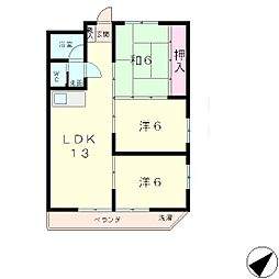 シャトー・エスポワール[6階]の間取り