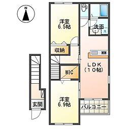 (仮称)茂原市東郷新築アパート[206号室]の間取り