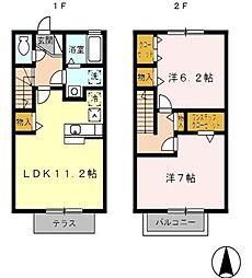 [テラスハウス] 東京都練馬区大泉学園町3丁目 の賃貸【/】の間取り