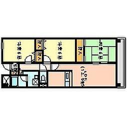 アクア深井[406号室]の間取り