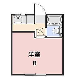 コーポラス田中[205号室]の間取り