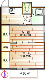 上越荘[2階]の間取り