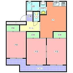 新原マンション[106号室]の間取り
