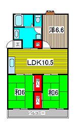 第3末広マンション[3階]の間取り