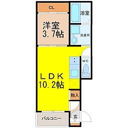 千種区小松町デザイナーズ[3階]の間取り