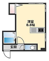 アイビーパレス321 2階ワンルームの間取り